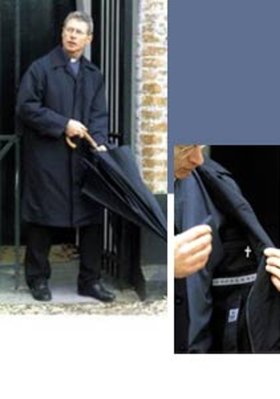 Black Clergy Raincoat from Stadelmaier/Small