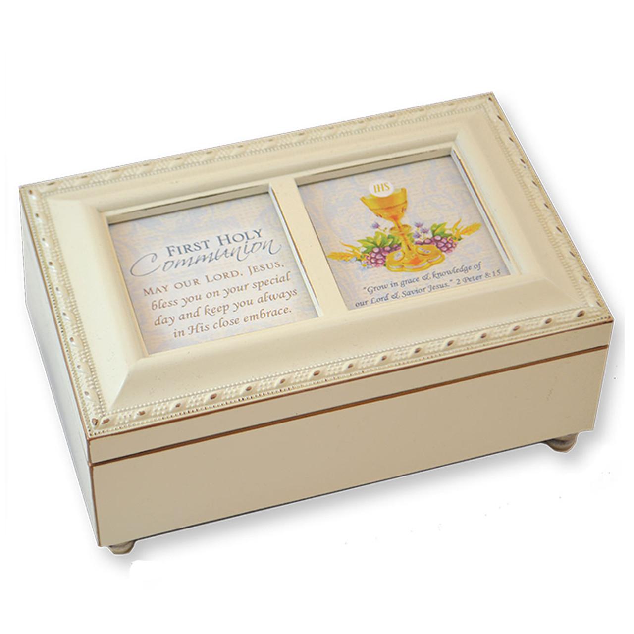 Ivory First Communion Keepsake Music Box