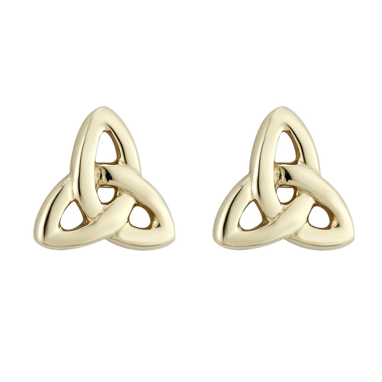 Gold Plated Trinity Knot Stud Earrings