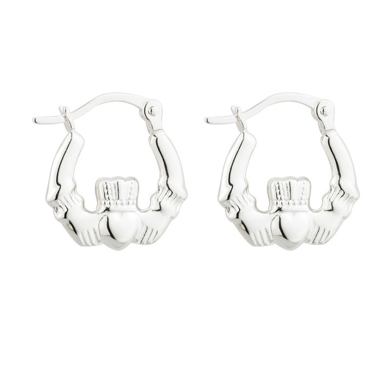 Claddagh Earrings Sterling Silver