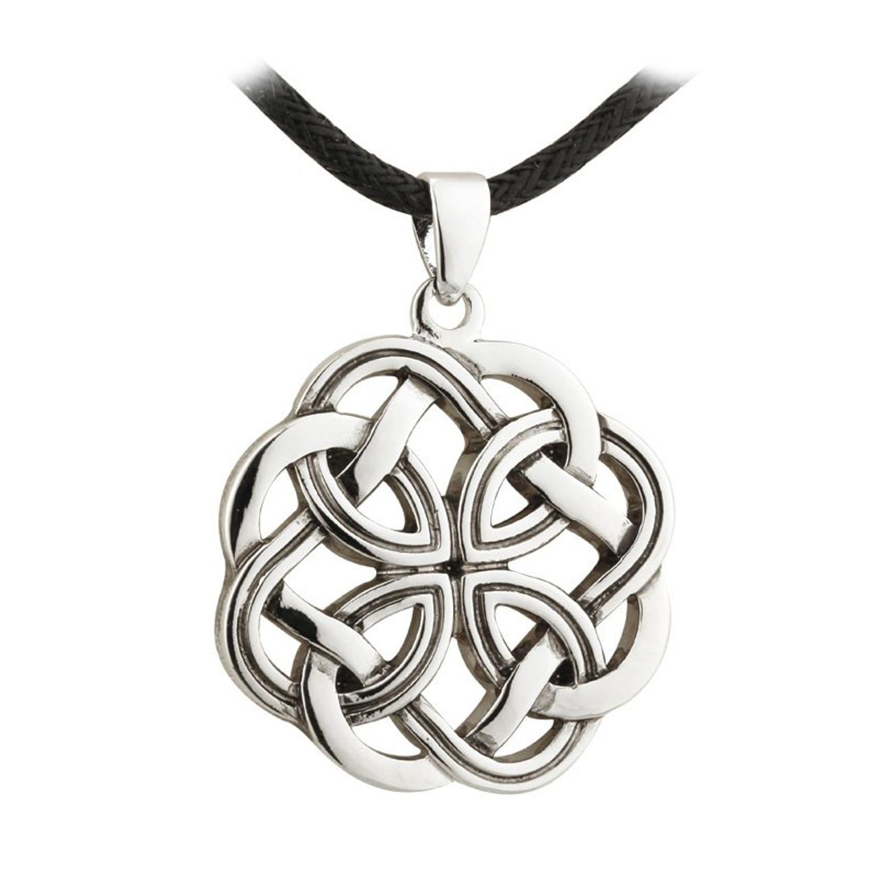 Rhodium Plated Celtic Knot Pendant
