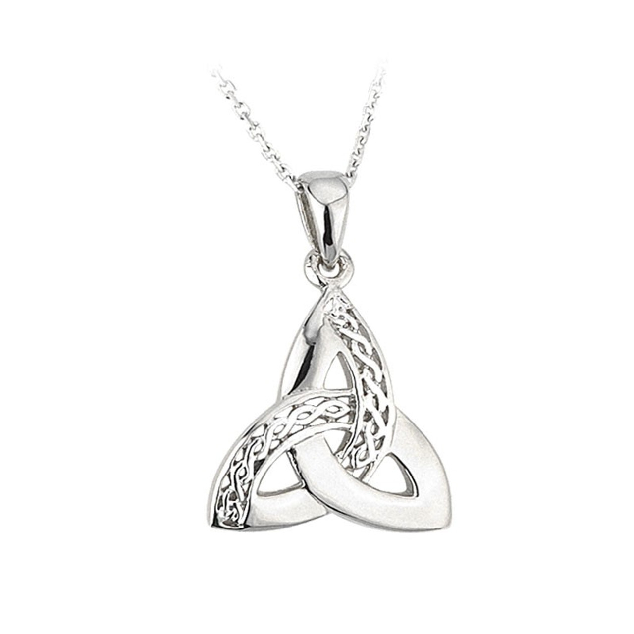 Sterling Silver Trinity Knot Filigree Pendant