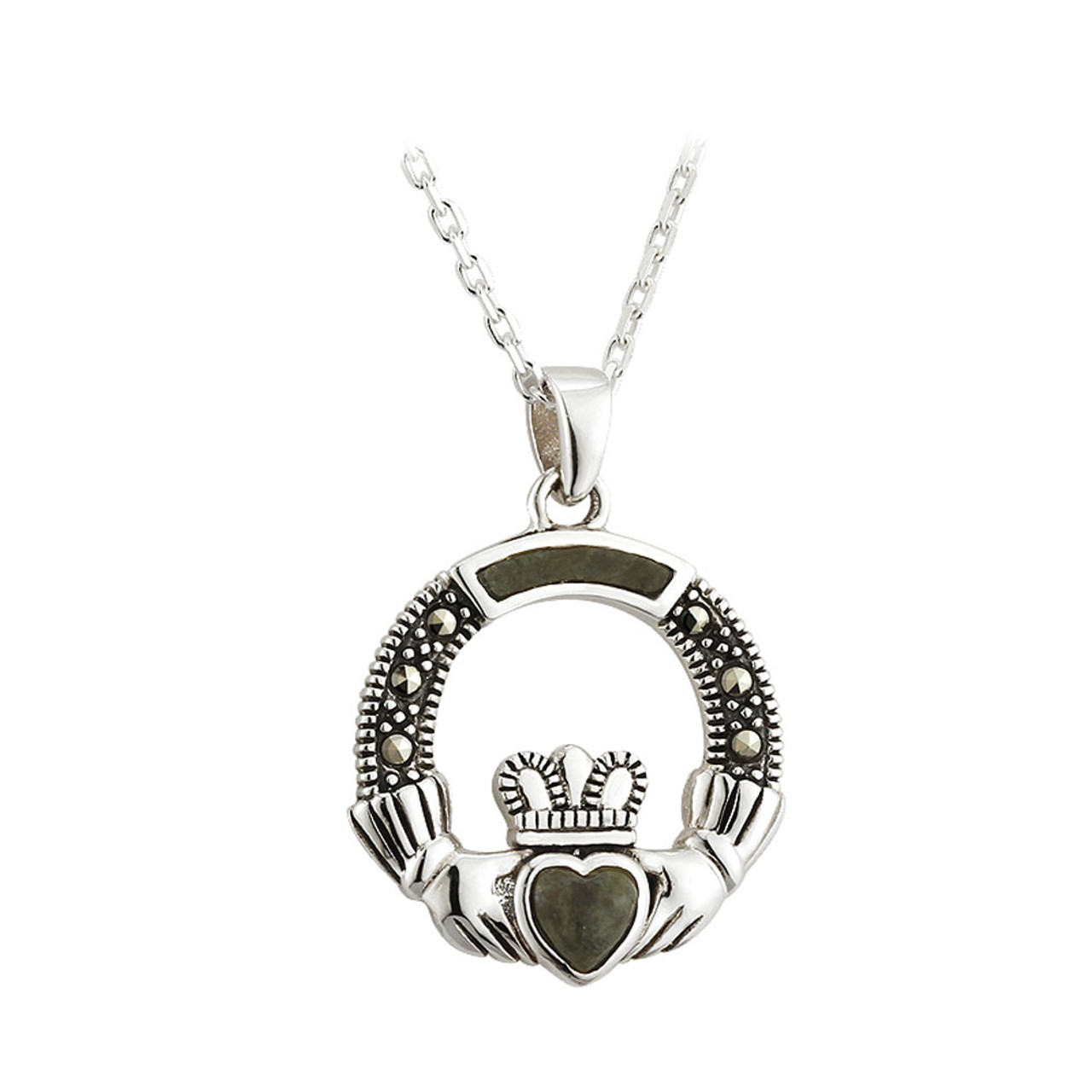 Claddagh Necklace Sterling Silver