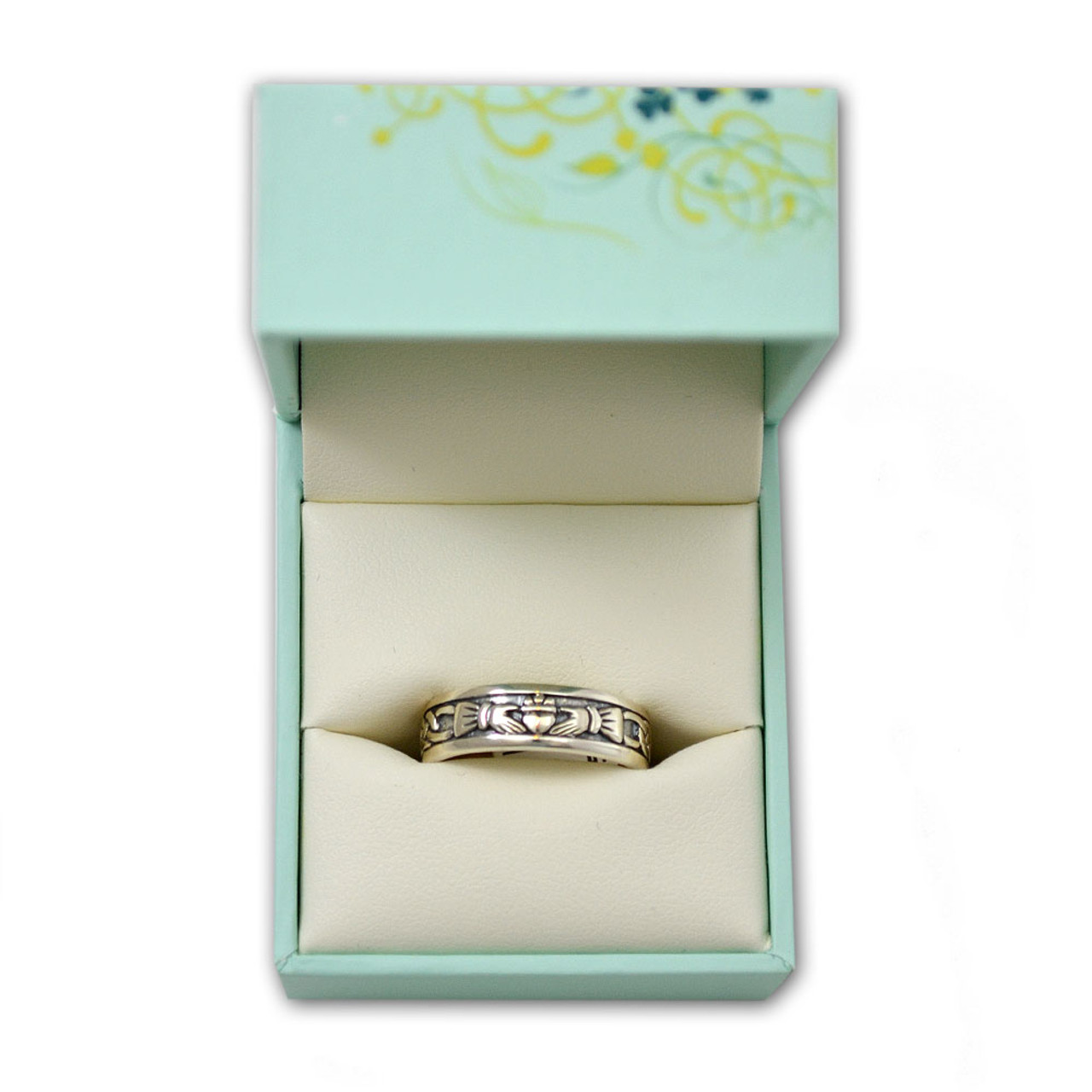 Sterling Silver Women's Celtic Claddagh Band