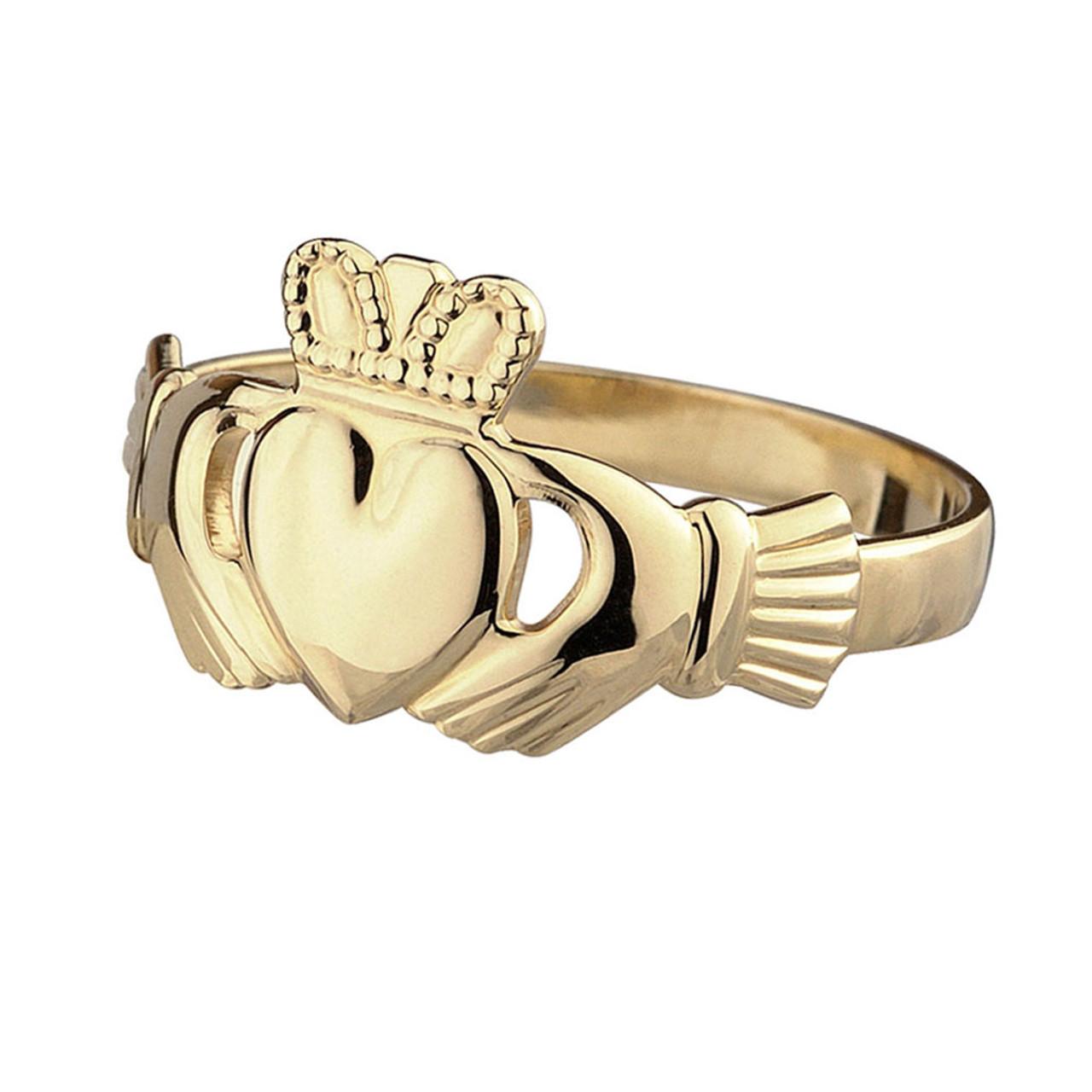 10KT Gold Claddagh Ring Female