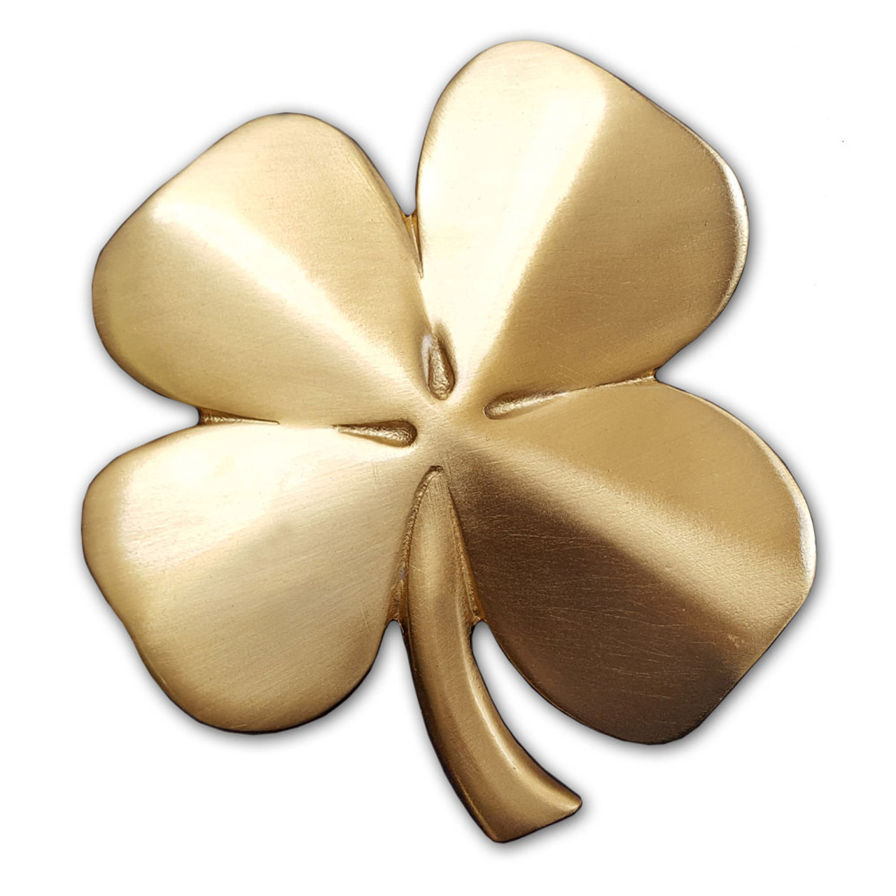 Gold Plated Four Leaf Clover Paper Weight