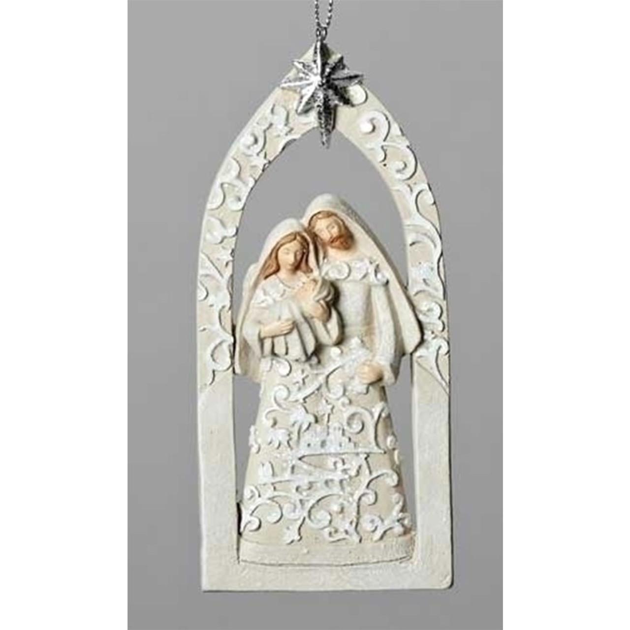 "Holy Family Chiristmas Ornament 5.5"""