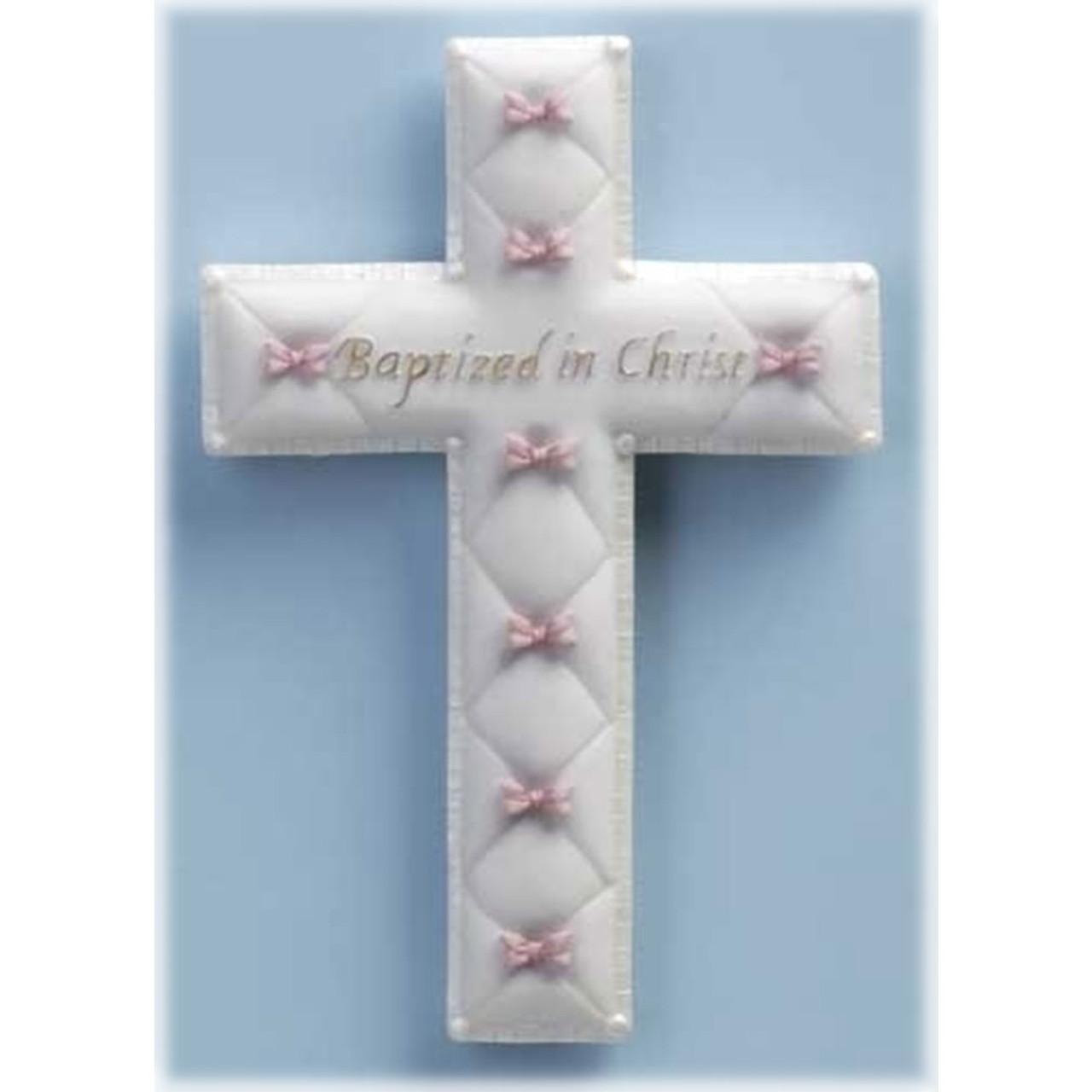 Girl's Baptism Wall Cross