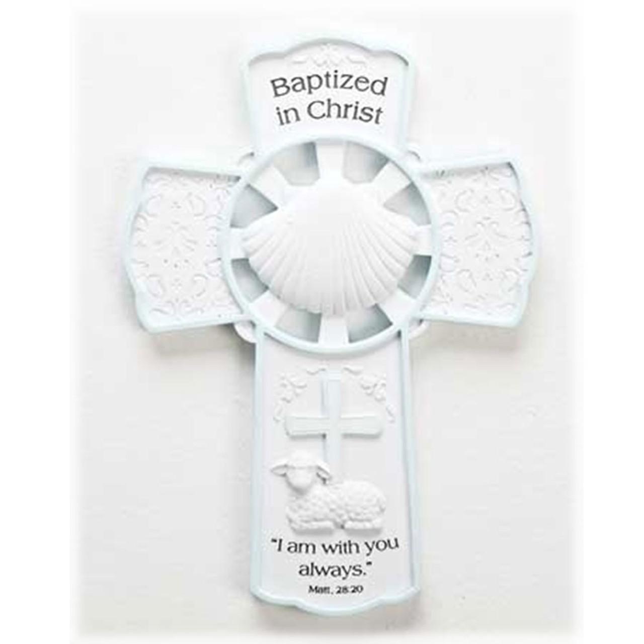 Boy Baptism Wall Cross 7.75IN