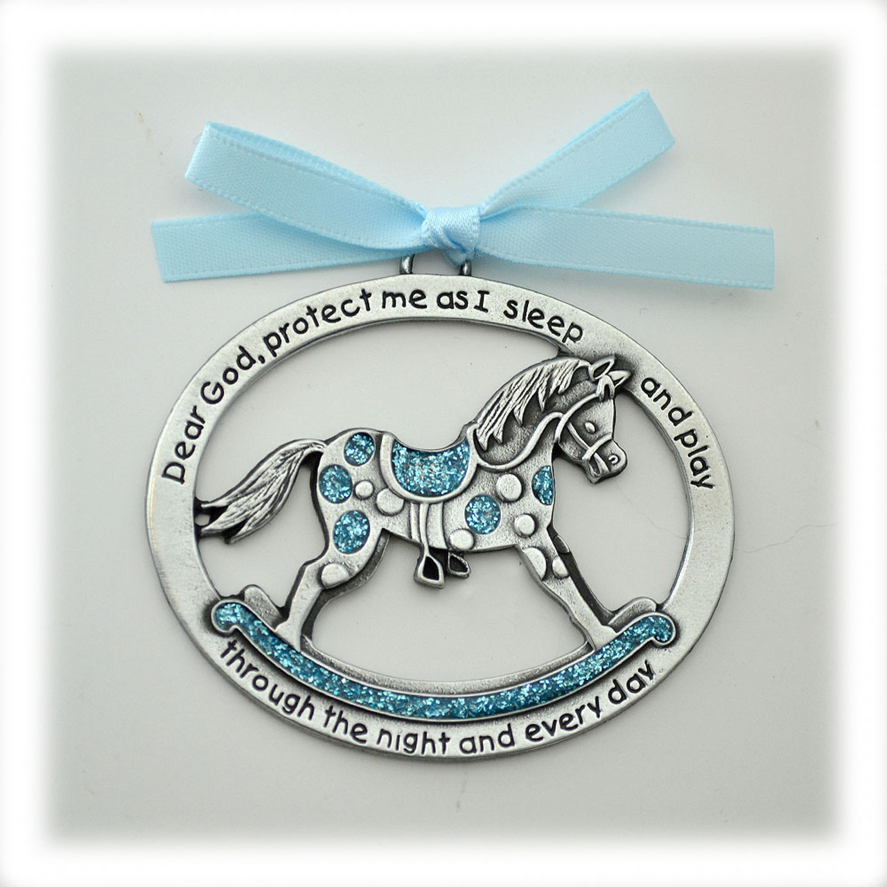 Baby Boy Rocking Horse Crib Medal