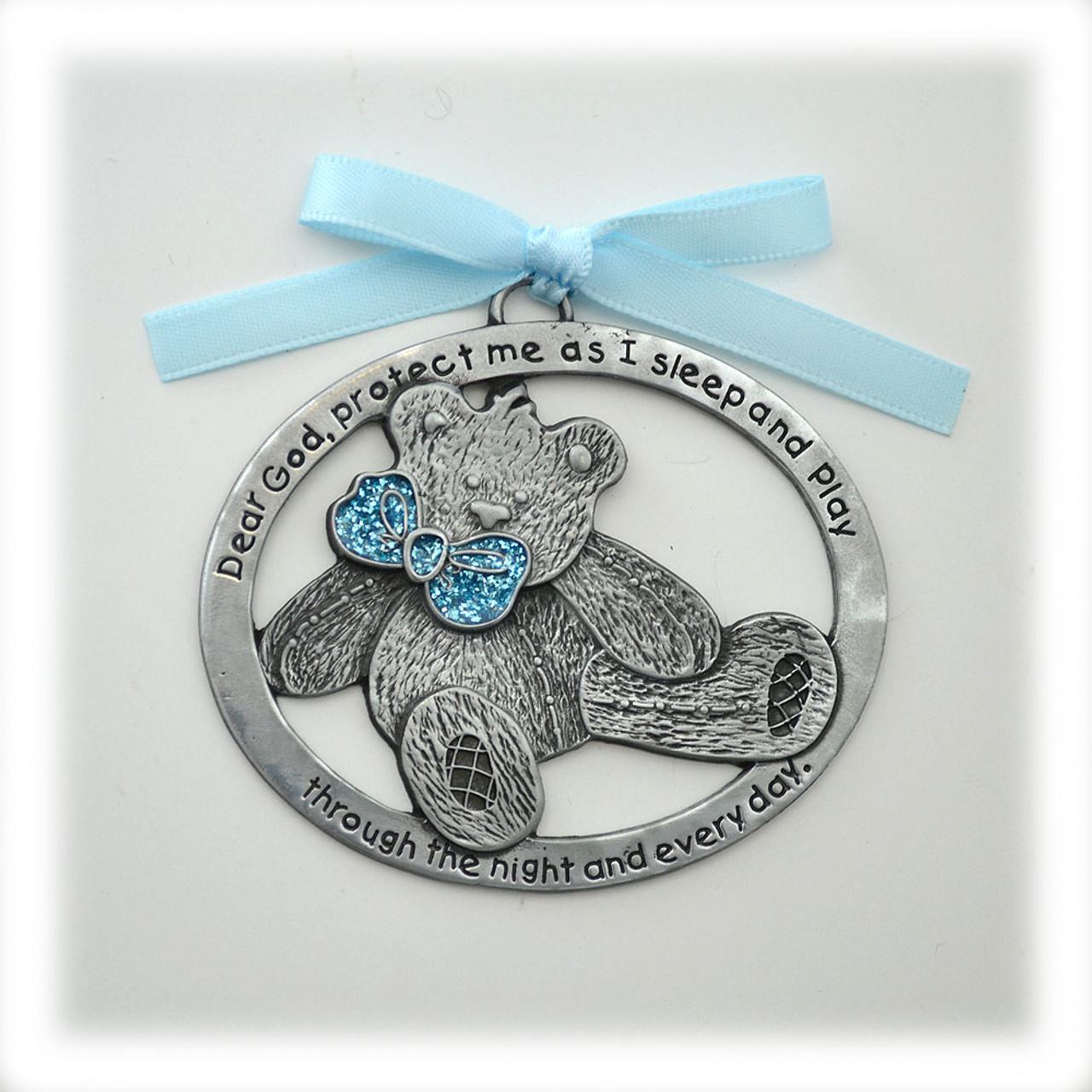 Baby Boy Teddy Bear Crib Medal