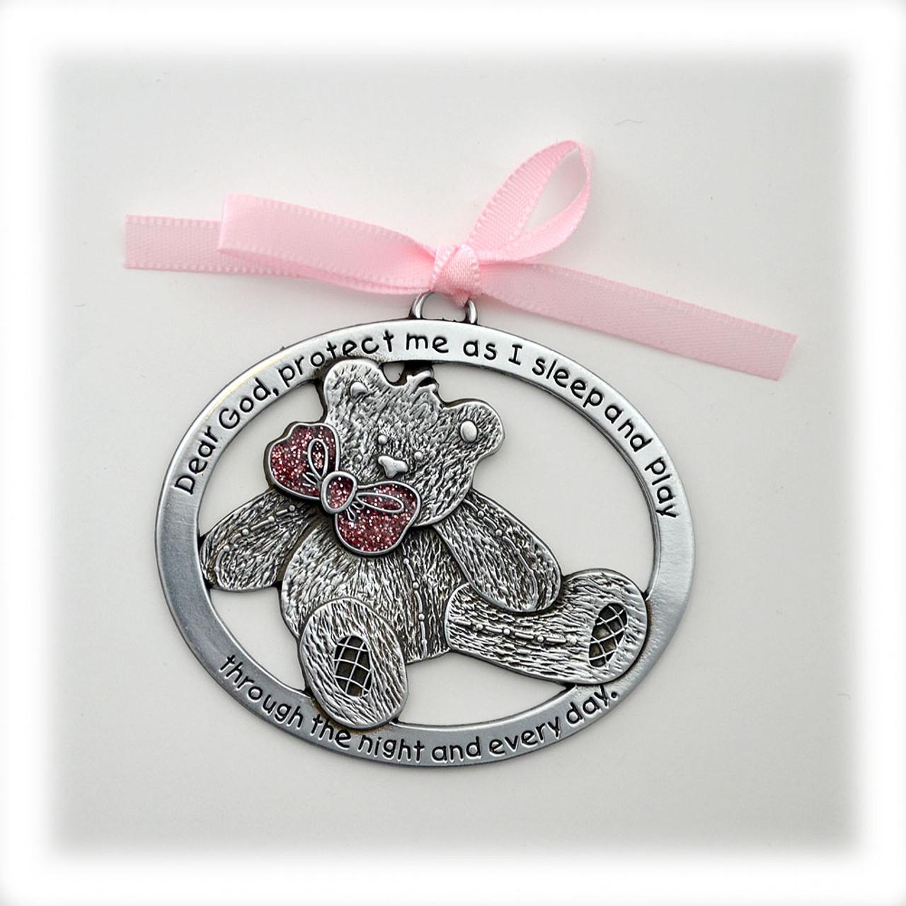 Baby Girl Teddy Bear Crib Medal