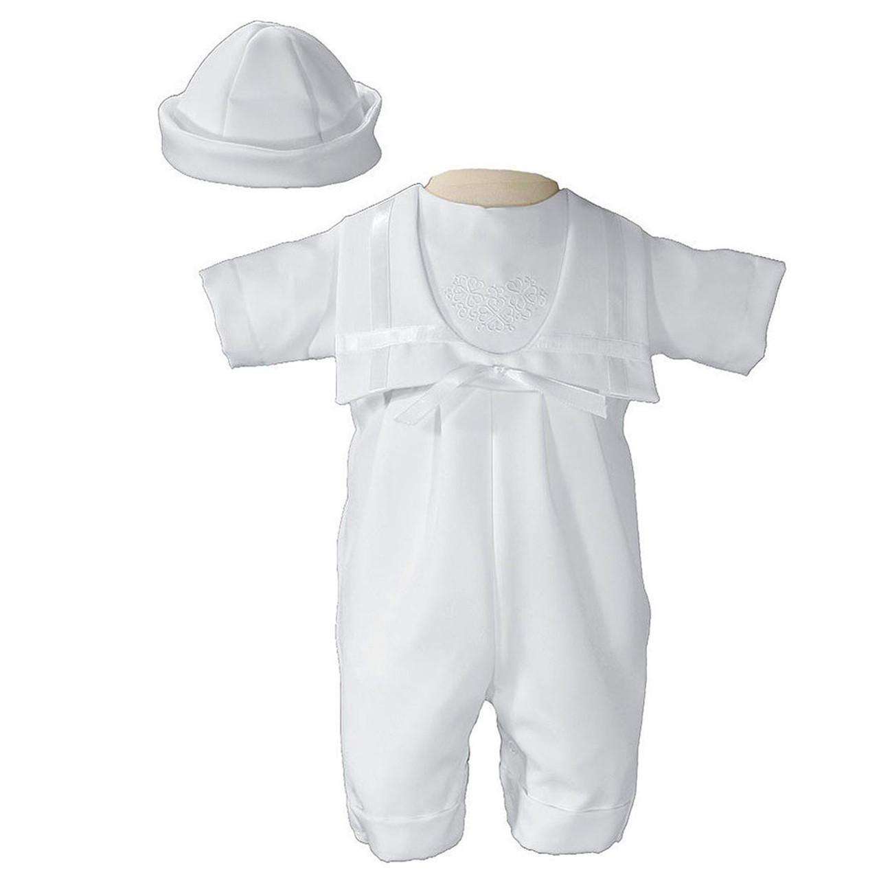 Boy's Gabardine Baptismal Suit with Shamrocks 12 Months