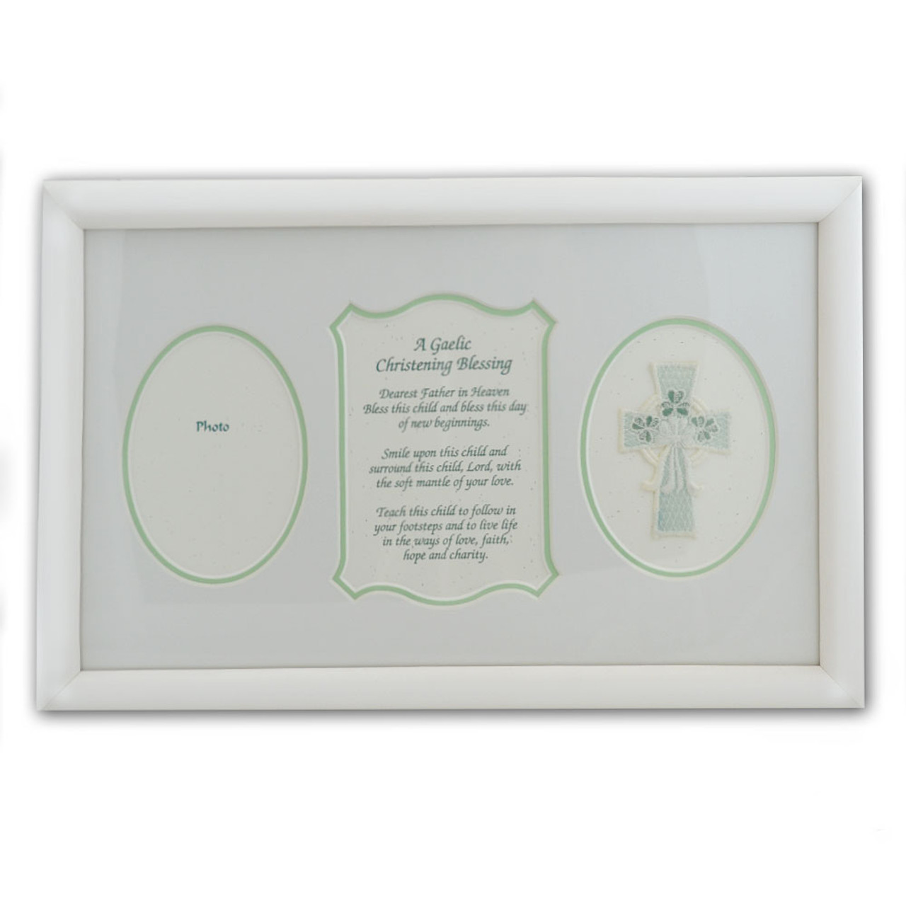 """Irish Baptismal Print with Gaelic Blessing 8"""" x 14"""""""