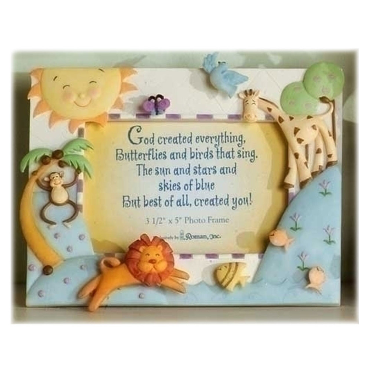 """Baby Picture Frame """"God Created Everything"""""""