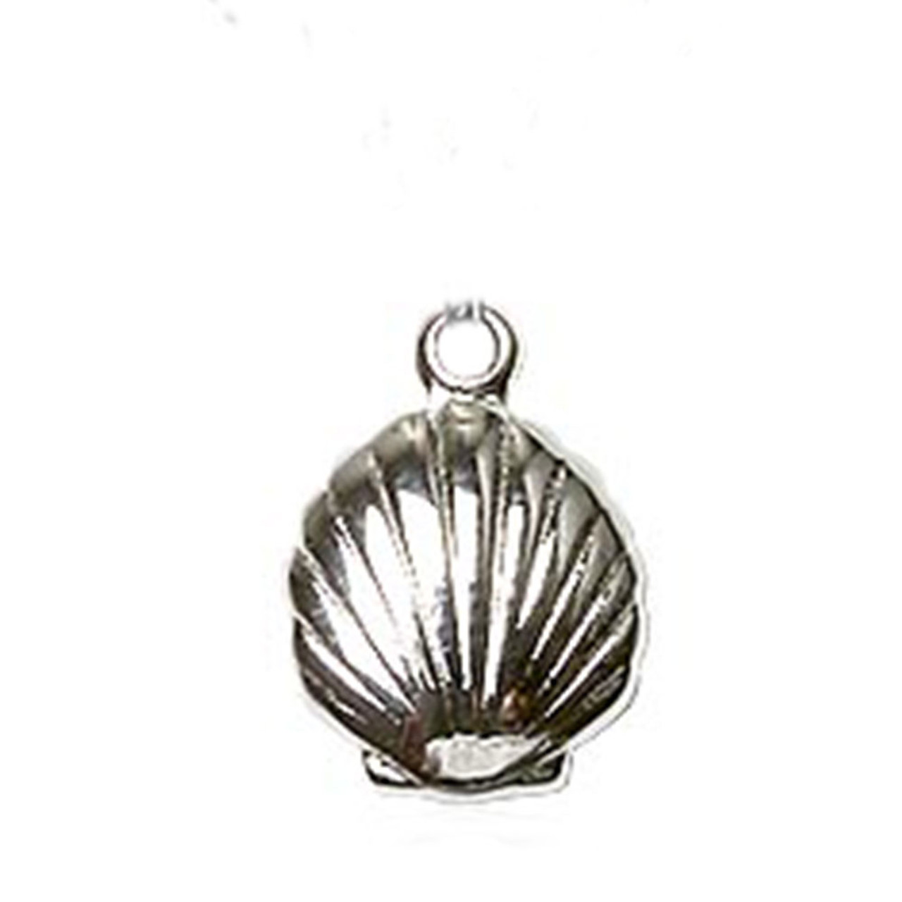 Baptism Shell Charm Sterling