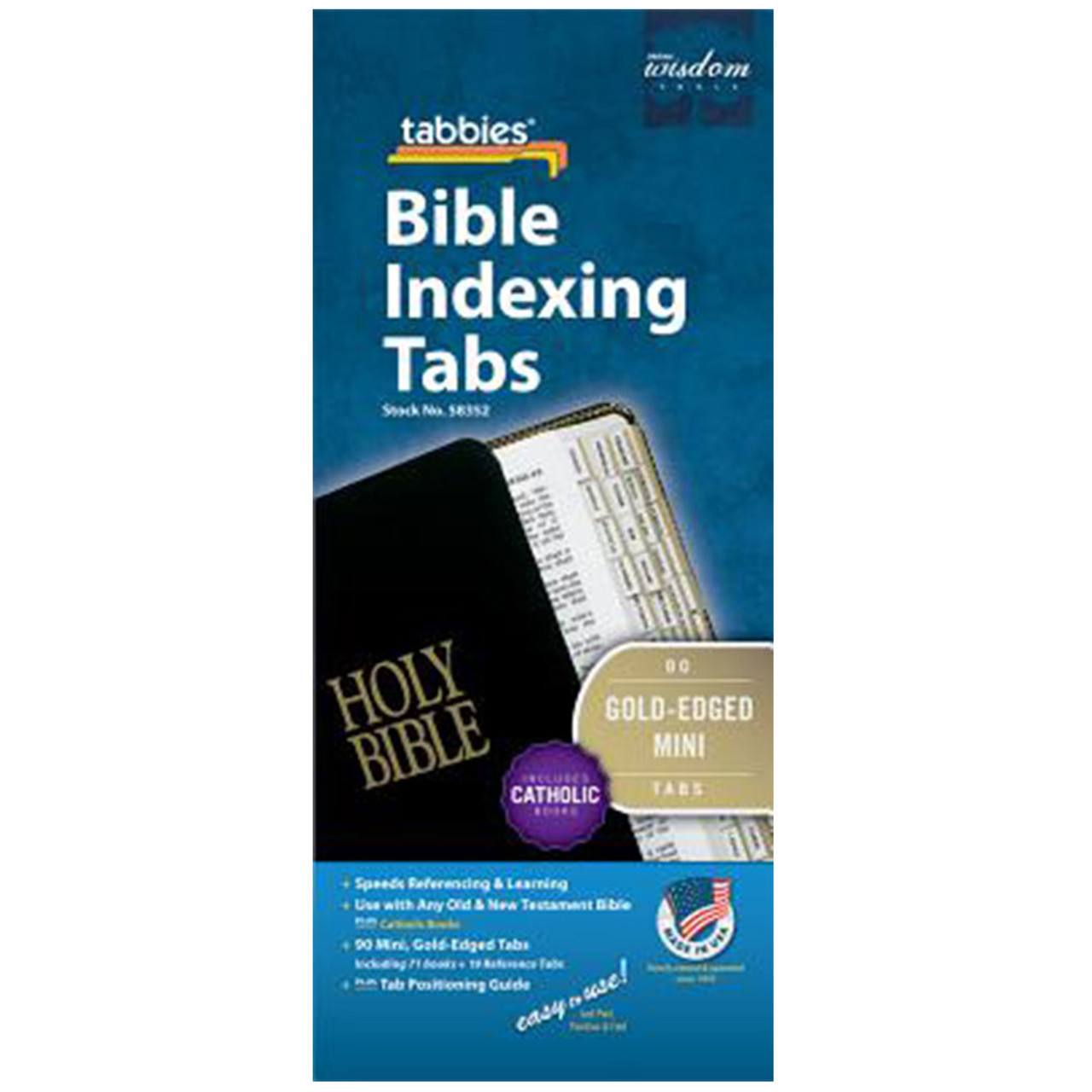 Mini Bible Tabs W/Apocrypha 1/2IN Wide