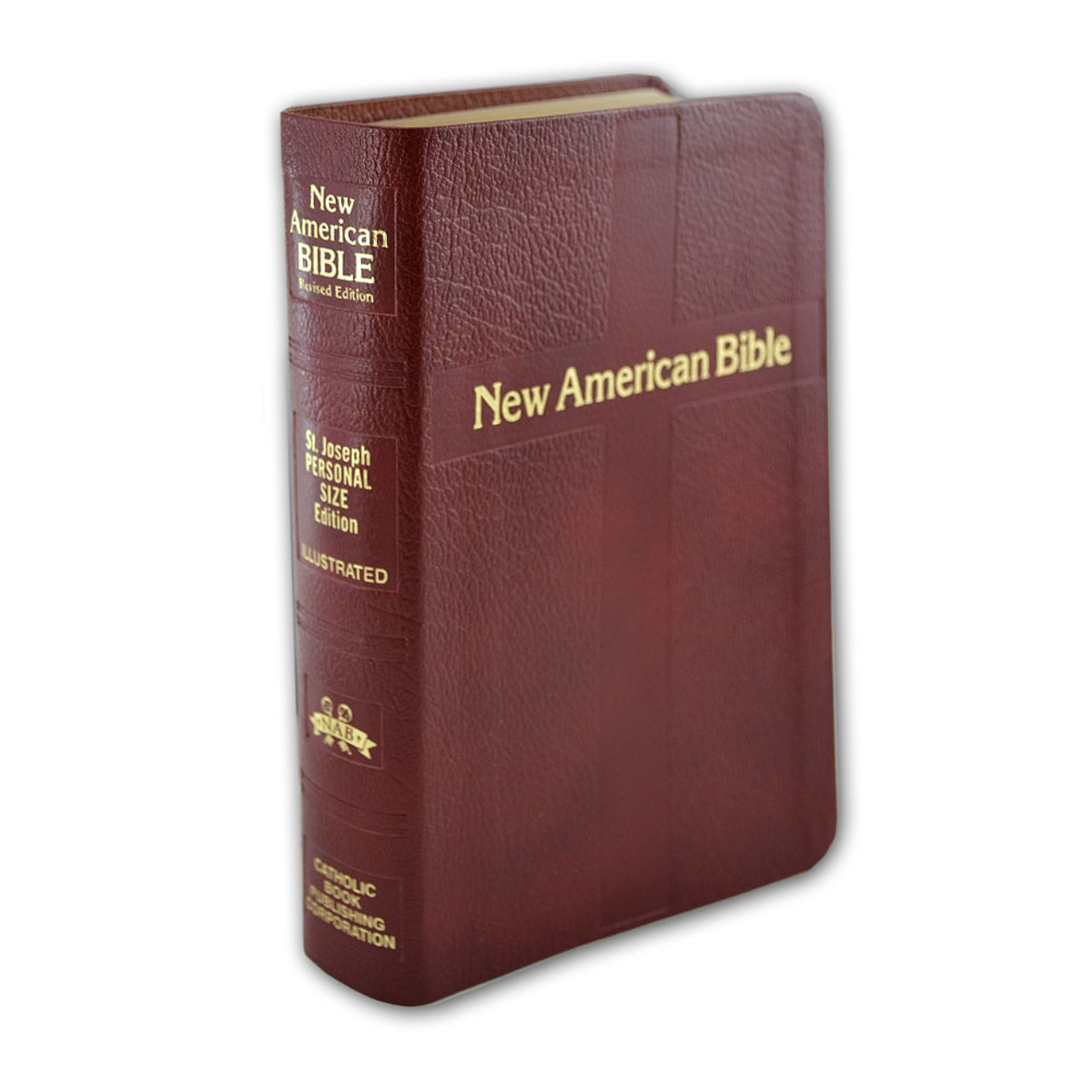 Personal Size Burgundy Bible Bonded Leather