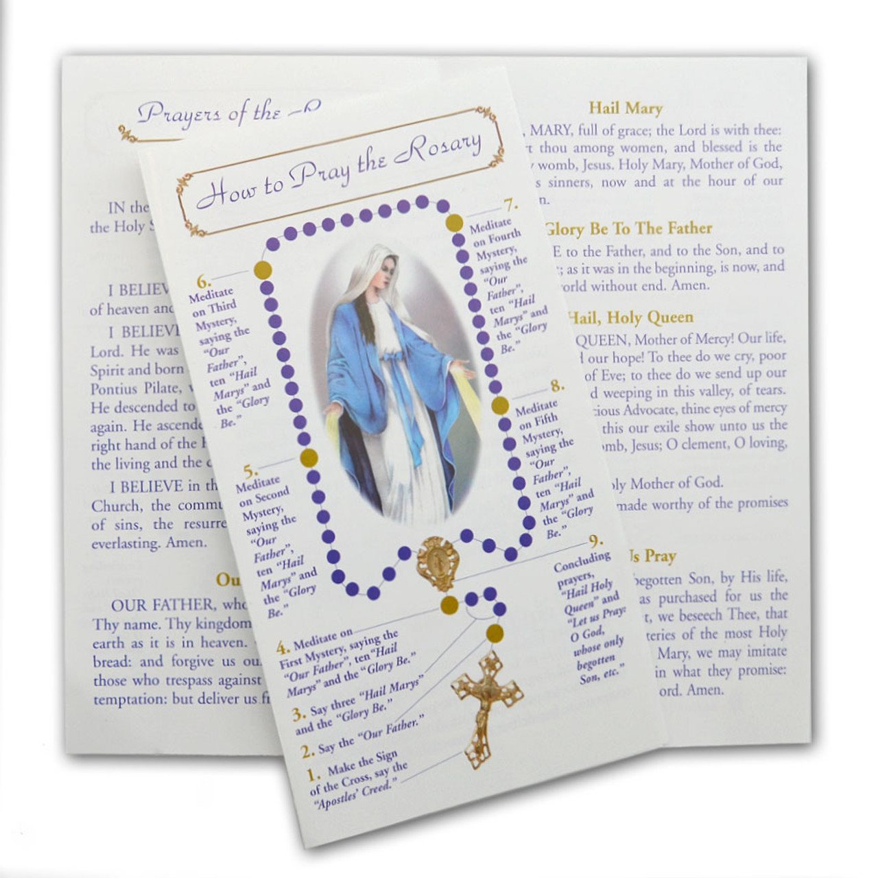 How to Pray the Rosary 4-page Pamphlet
