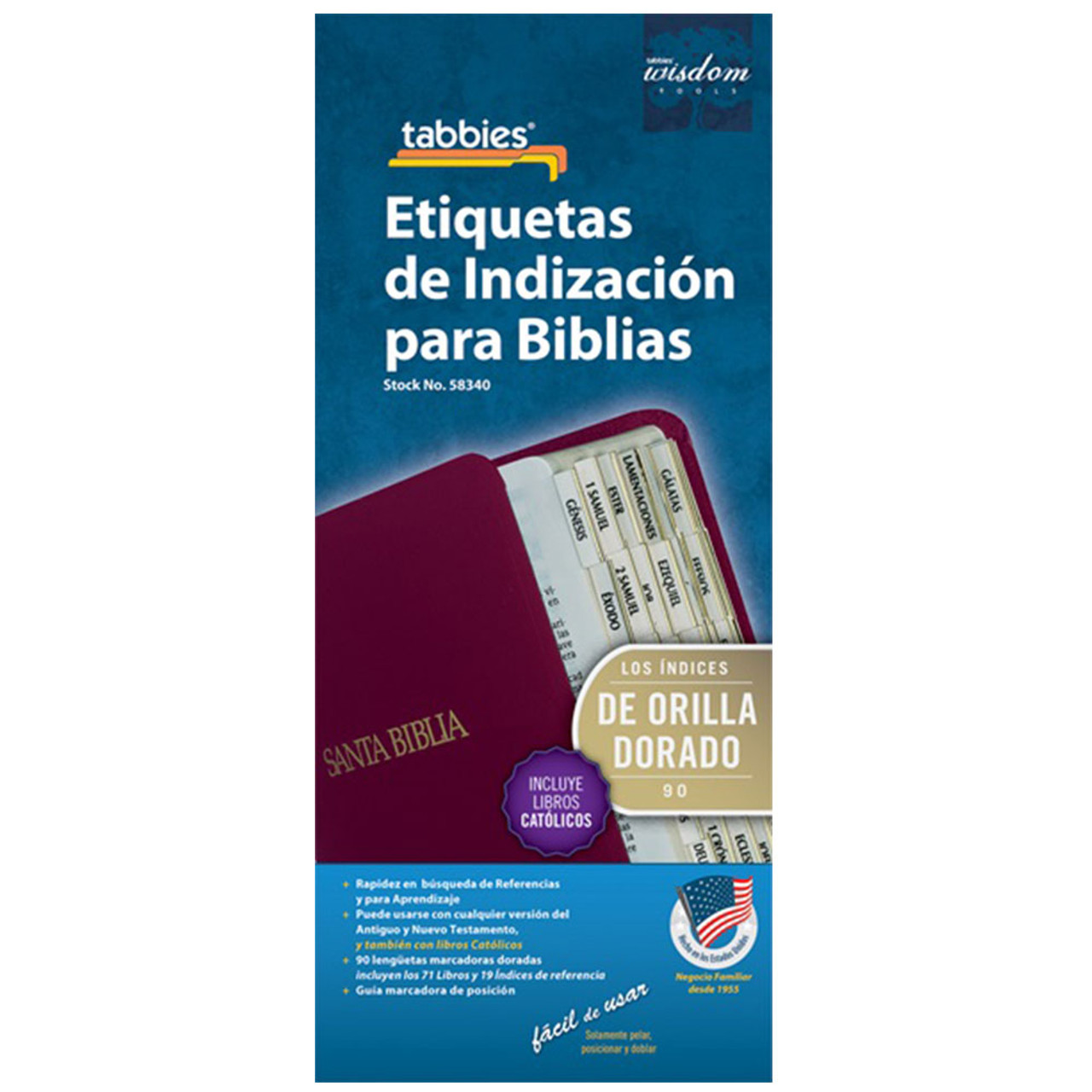 Bible Index Tabs Spanish With Apocrypha