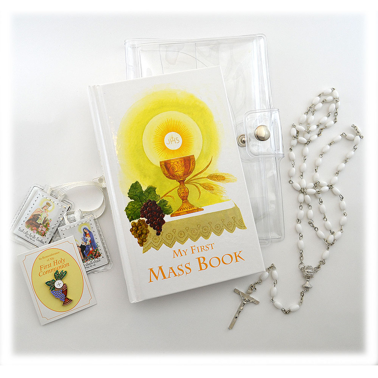 Inexpensive Girls Vinyl Communion Missal Set
