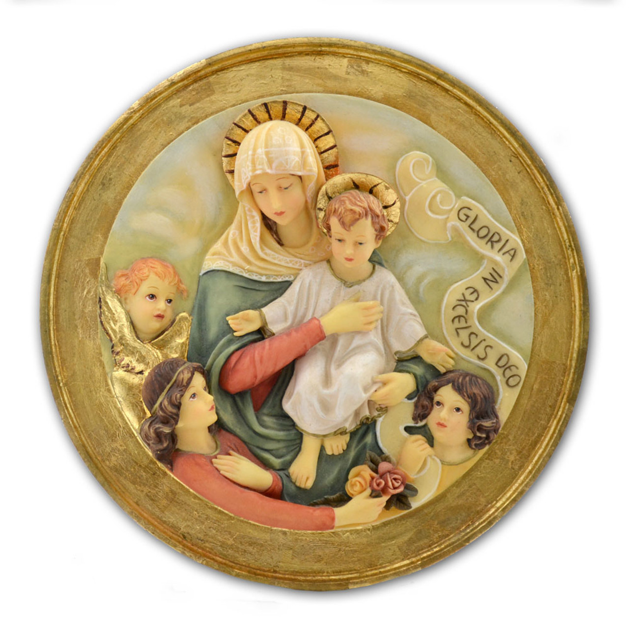 Our Lady and Child Medallion 7IN