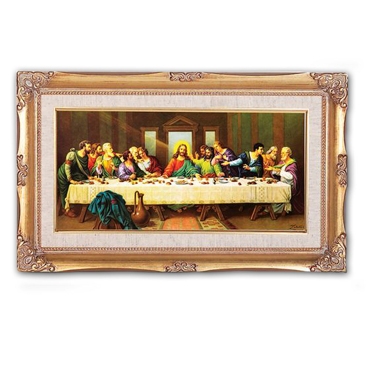 Last Supper Framed Painting by Zabateri - 19x11