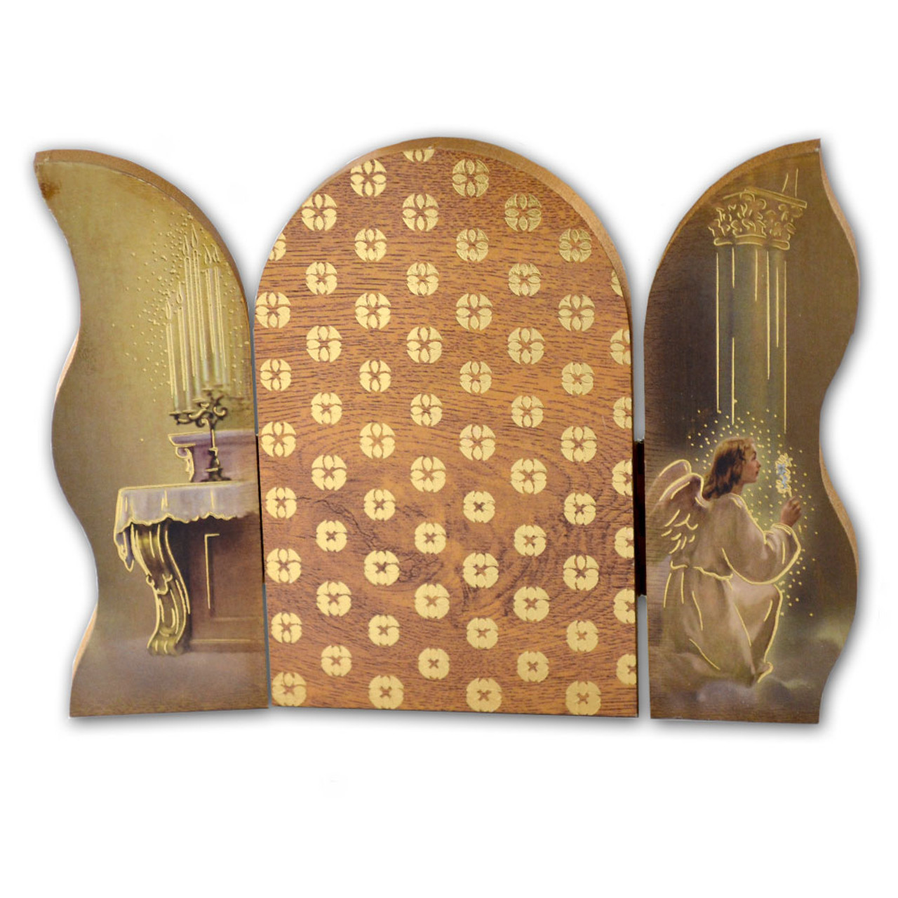 Our Lady Of Grace 4 X 5 Inch Icon Triptych