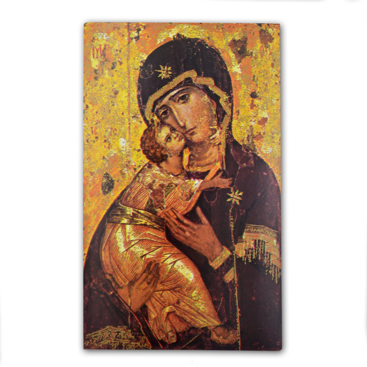 Our Lady Of Vladimir Icon Holy Card Paper