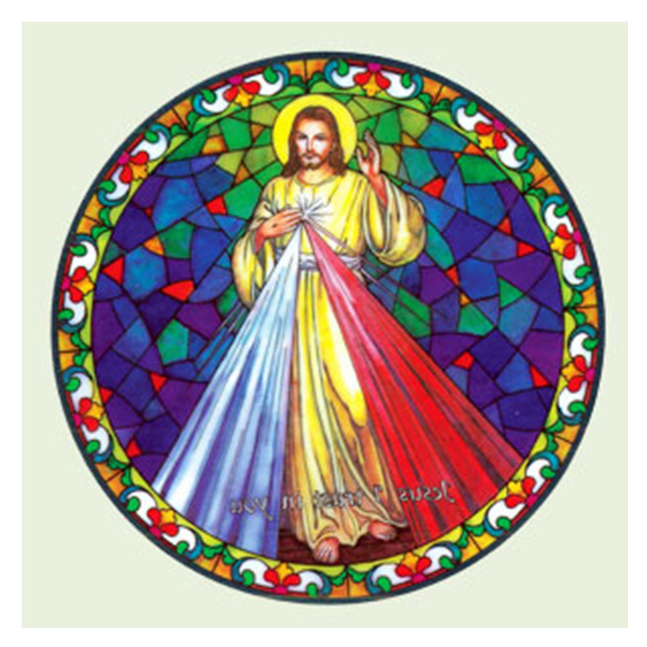 Divine Mercy Window Sticker Suncatcher for Glass