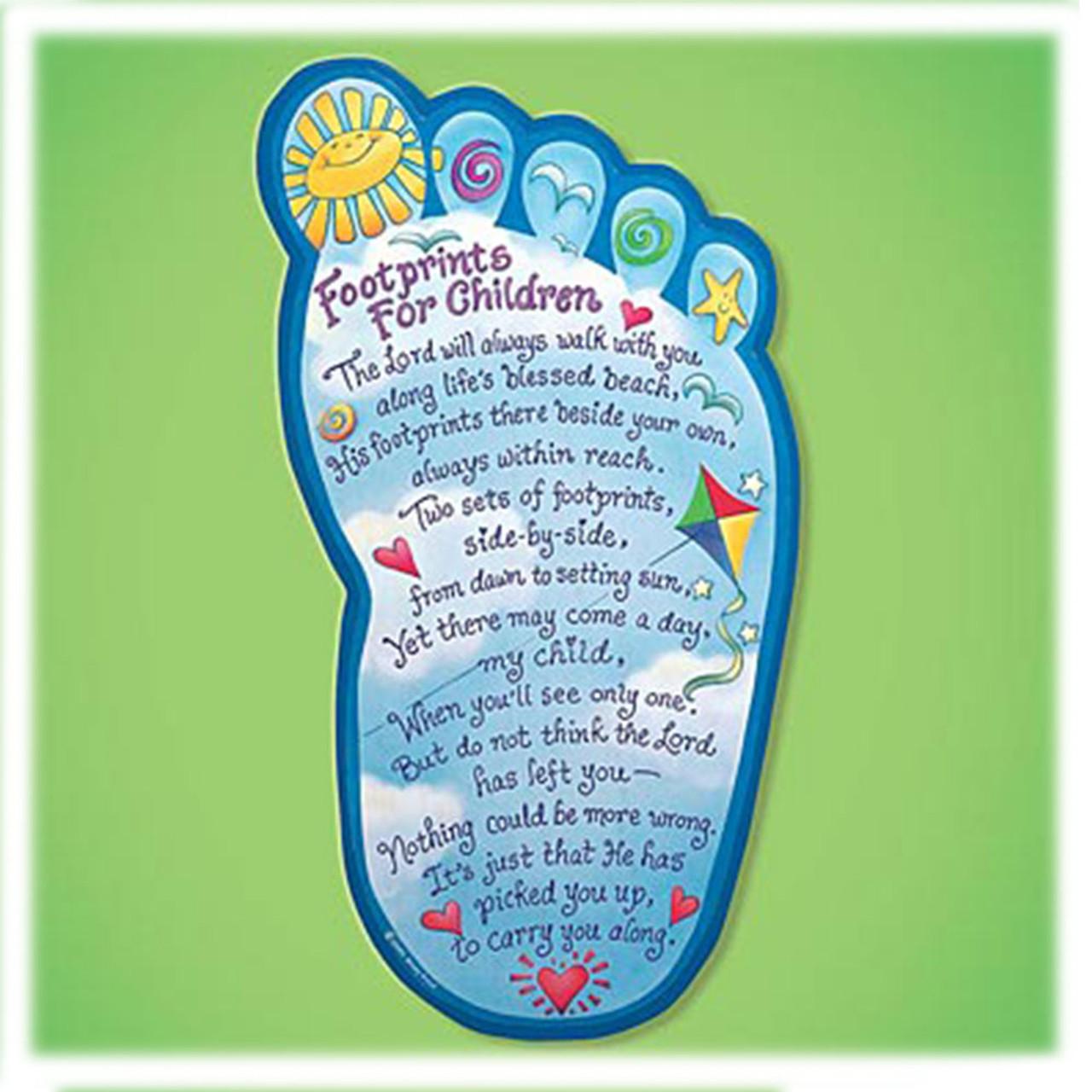 Footprints Shaped Child's Plaque