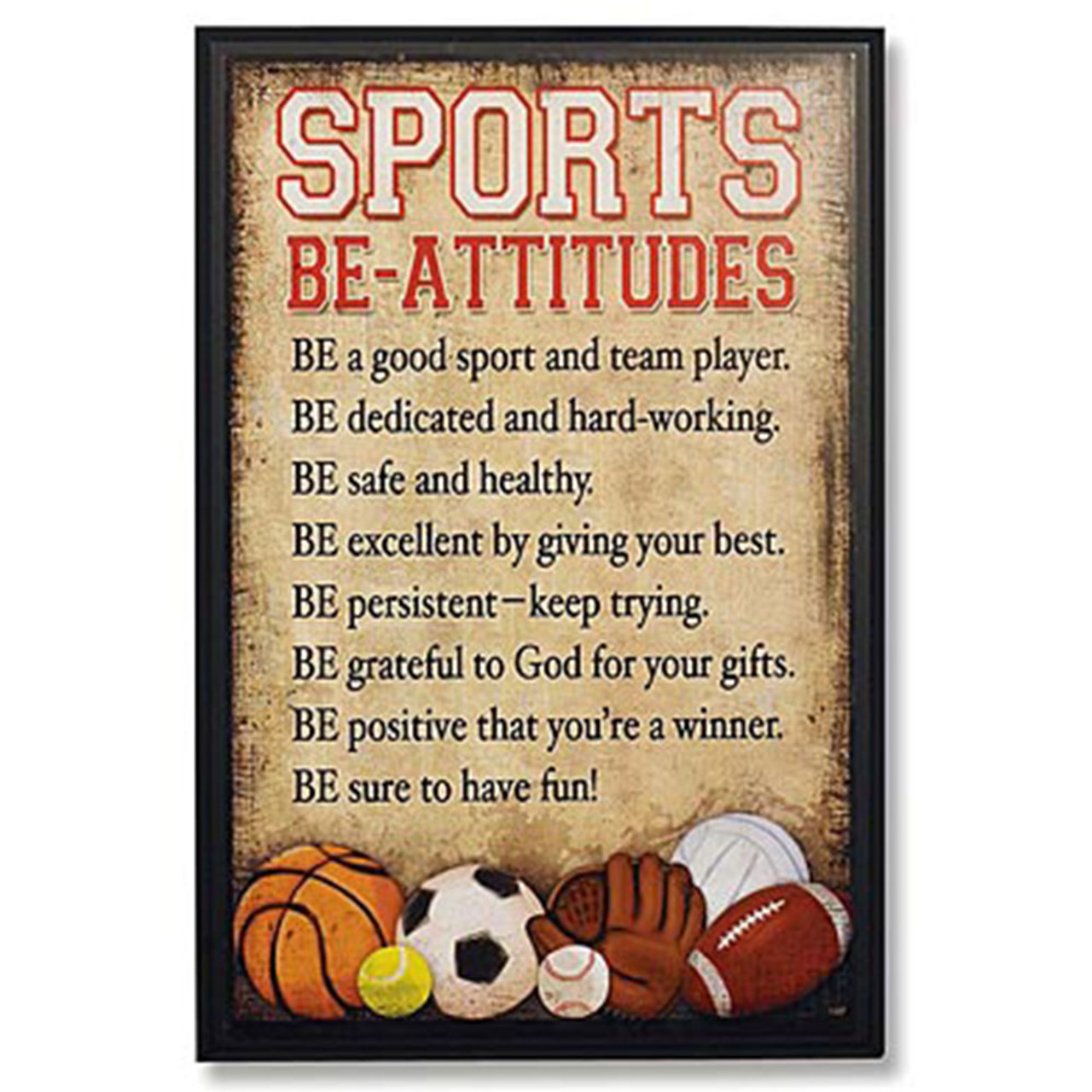 Beatitudes Sports Plaque