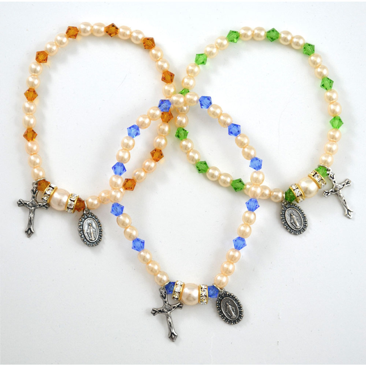 Birthstone Rosary Stretch Bracelets