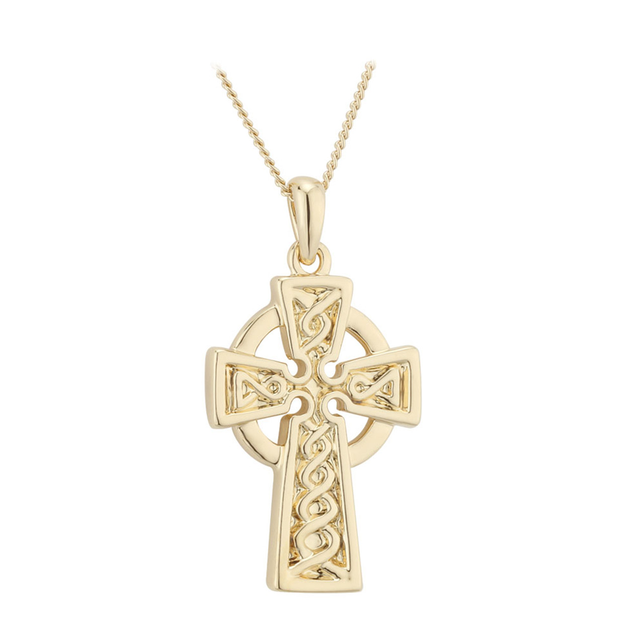 Gold Plated Celtic Cross Necklace