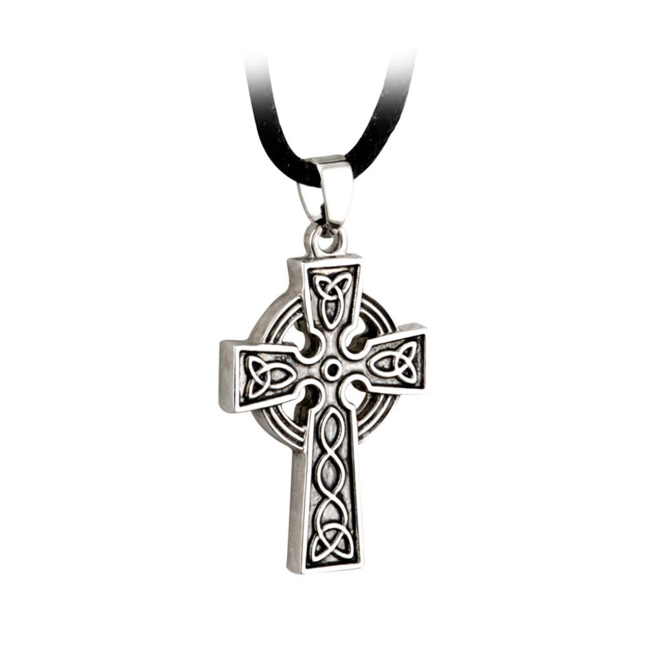 """Pewter Celtic Cross on 18"""" Cord"""