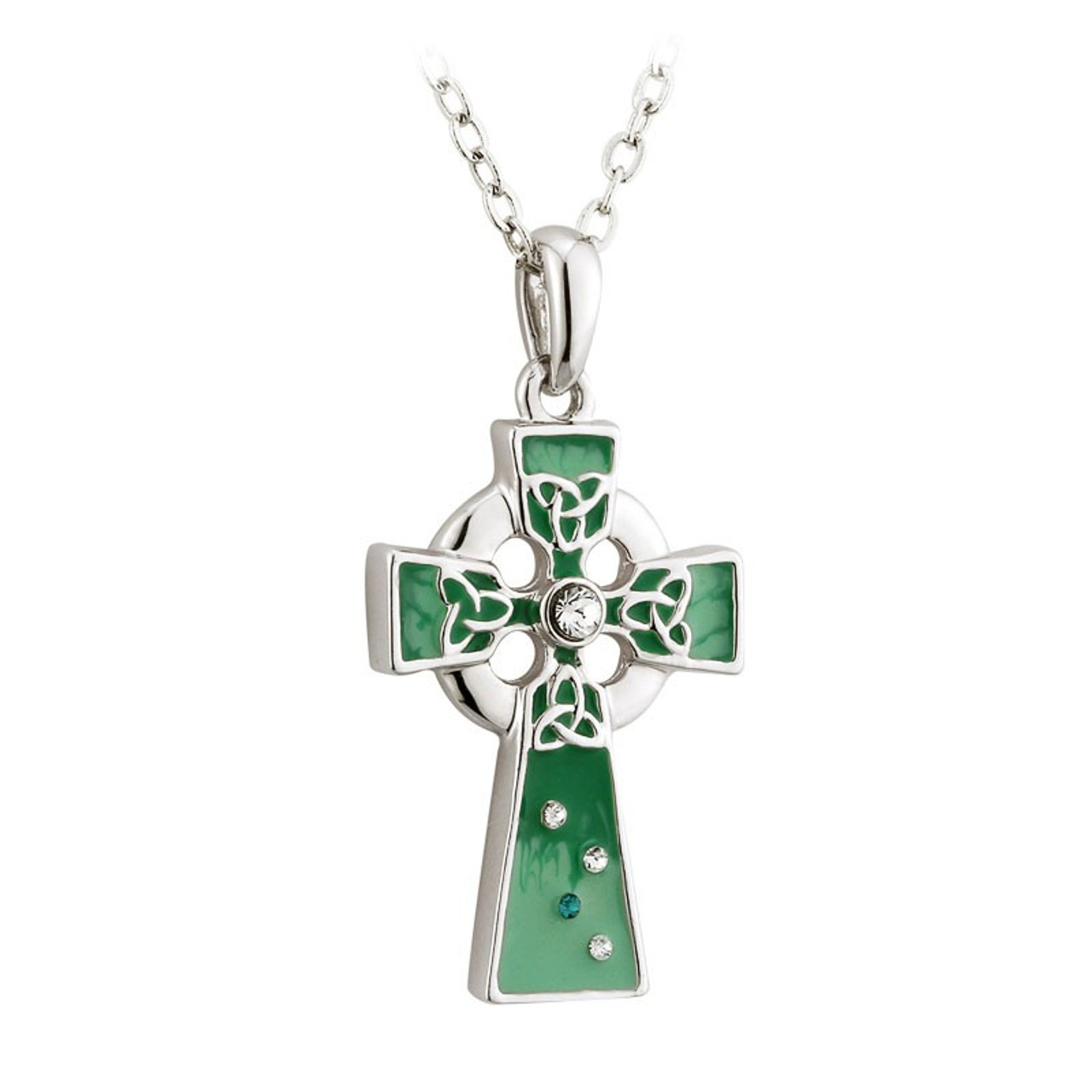 Rhodium Celtic Cross Pendant