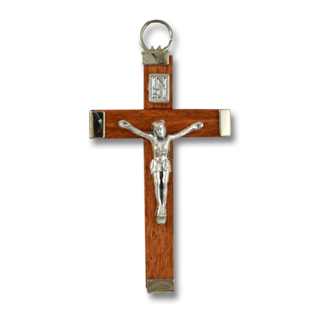 """1-7/8"""" Wood Crucifix"""