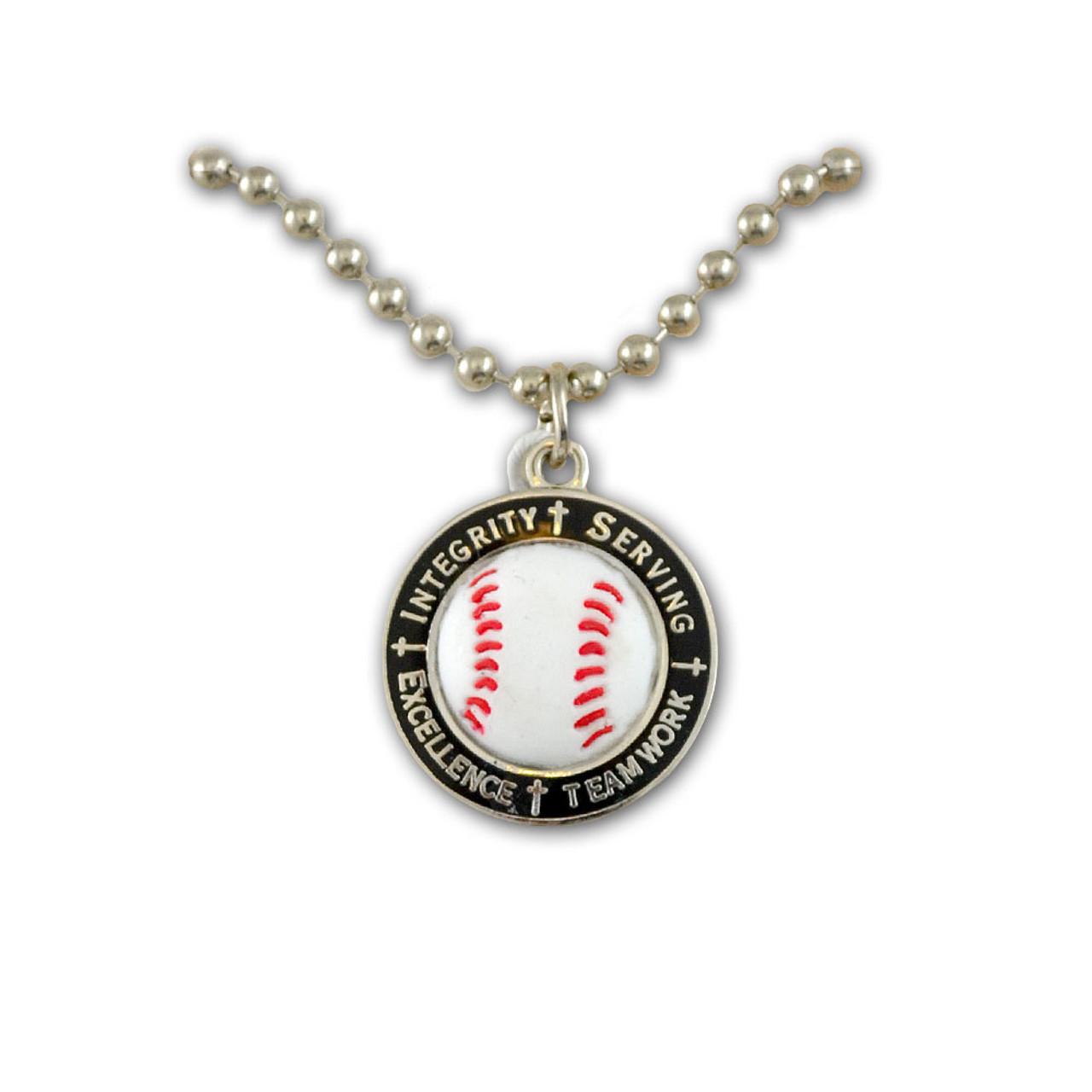 Baseball Core Value Sports Necklace 18In Chain