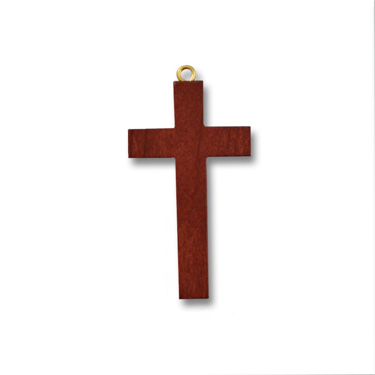 """1-5/8"""" Brown Wood Cross"""
