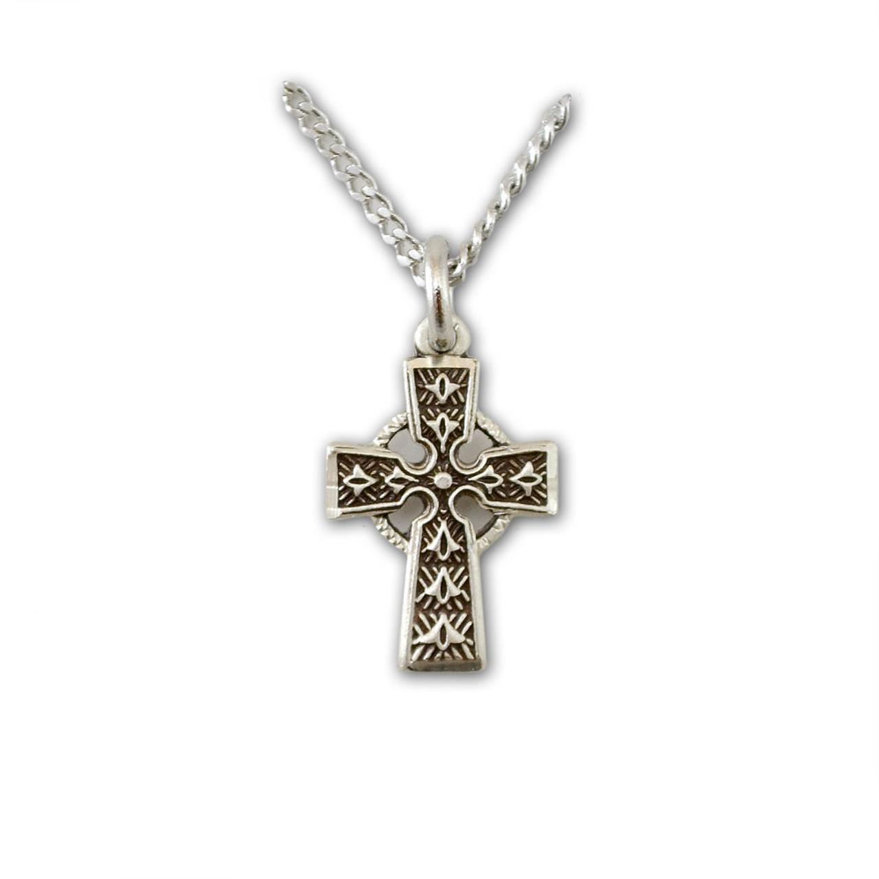 Petite Silver Celtic Cross Necklace