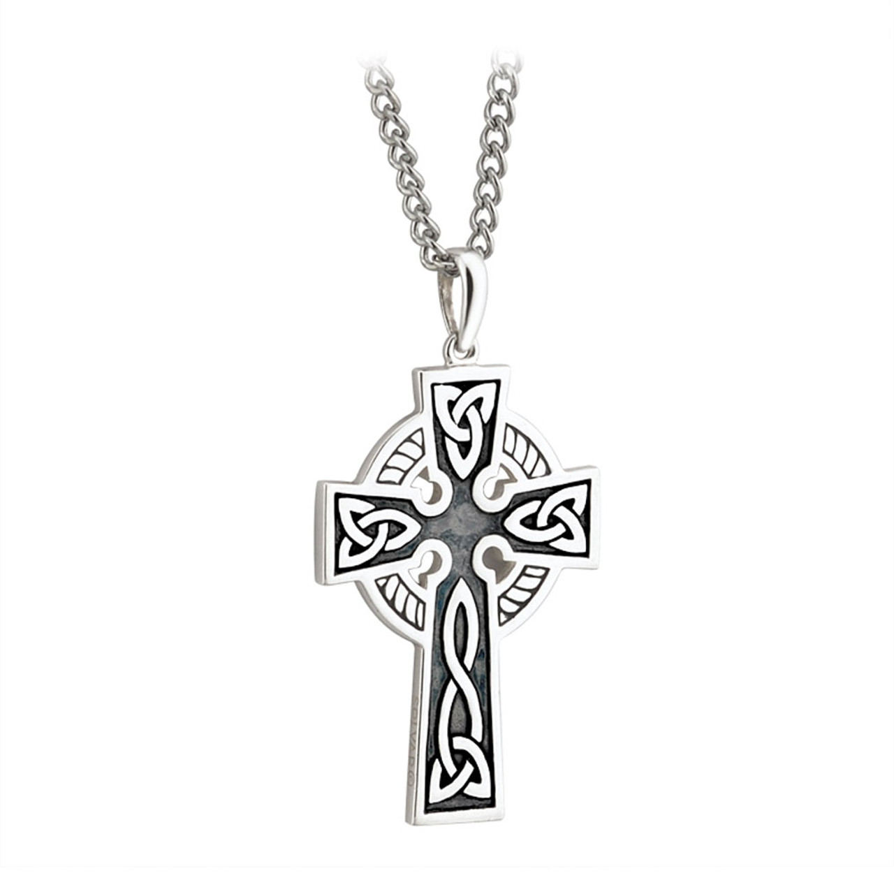 """Double Sided Celtic Cross Sterling 20"""" Chain"""