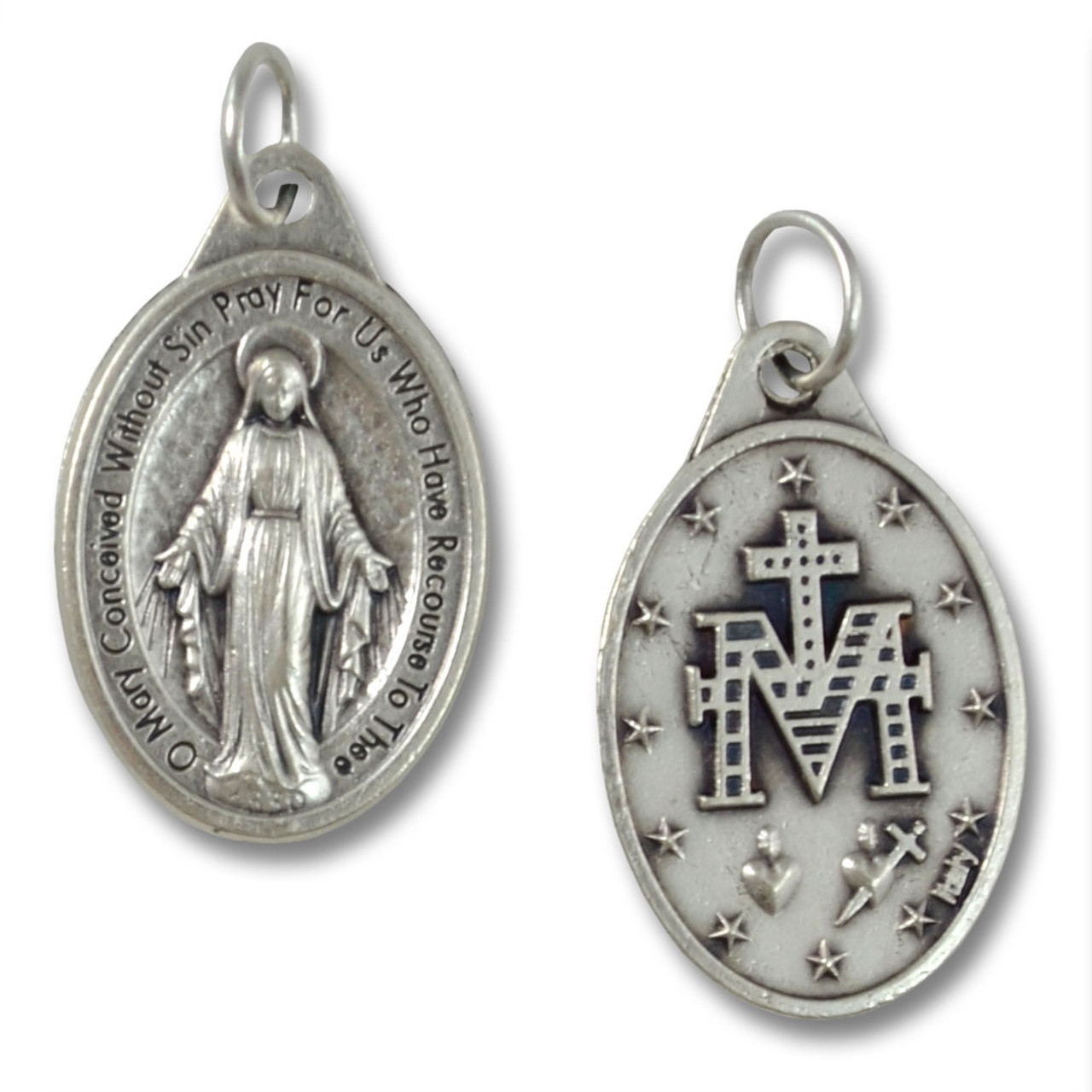 Inexpensive Silver Miraculous Medal No Chain