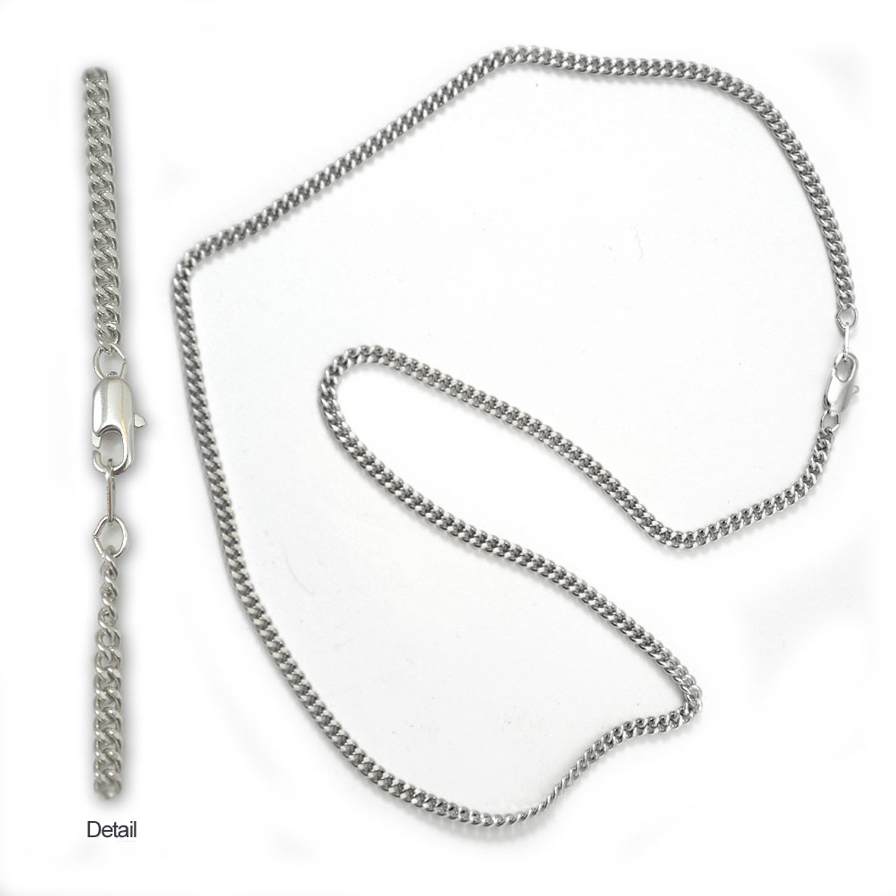 "18"" Rhodium Large Link Jewelry Chain"