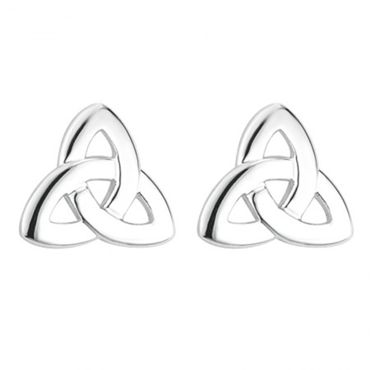 Trinity Knot Earrings Rhodium