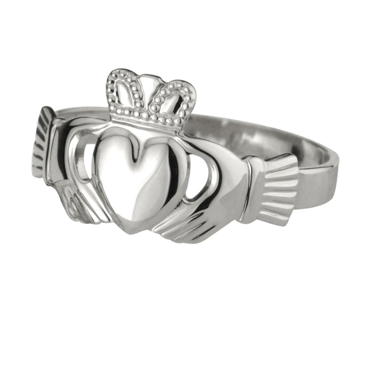 Classic Sterling Silver Ladies' Claddagh Ring
