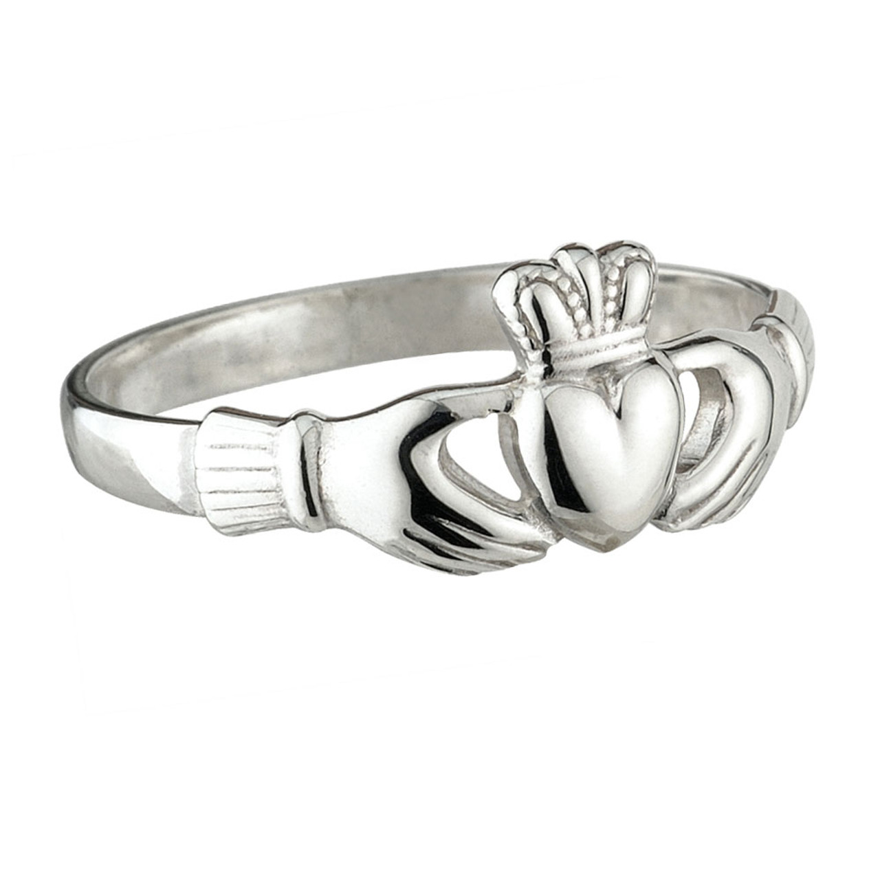 Claddagh Puff Ring Sterling Silver