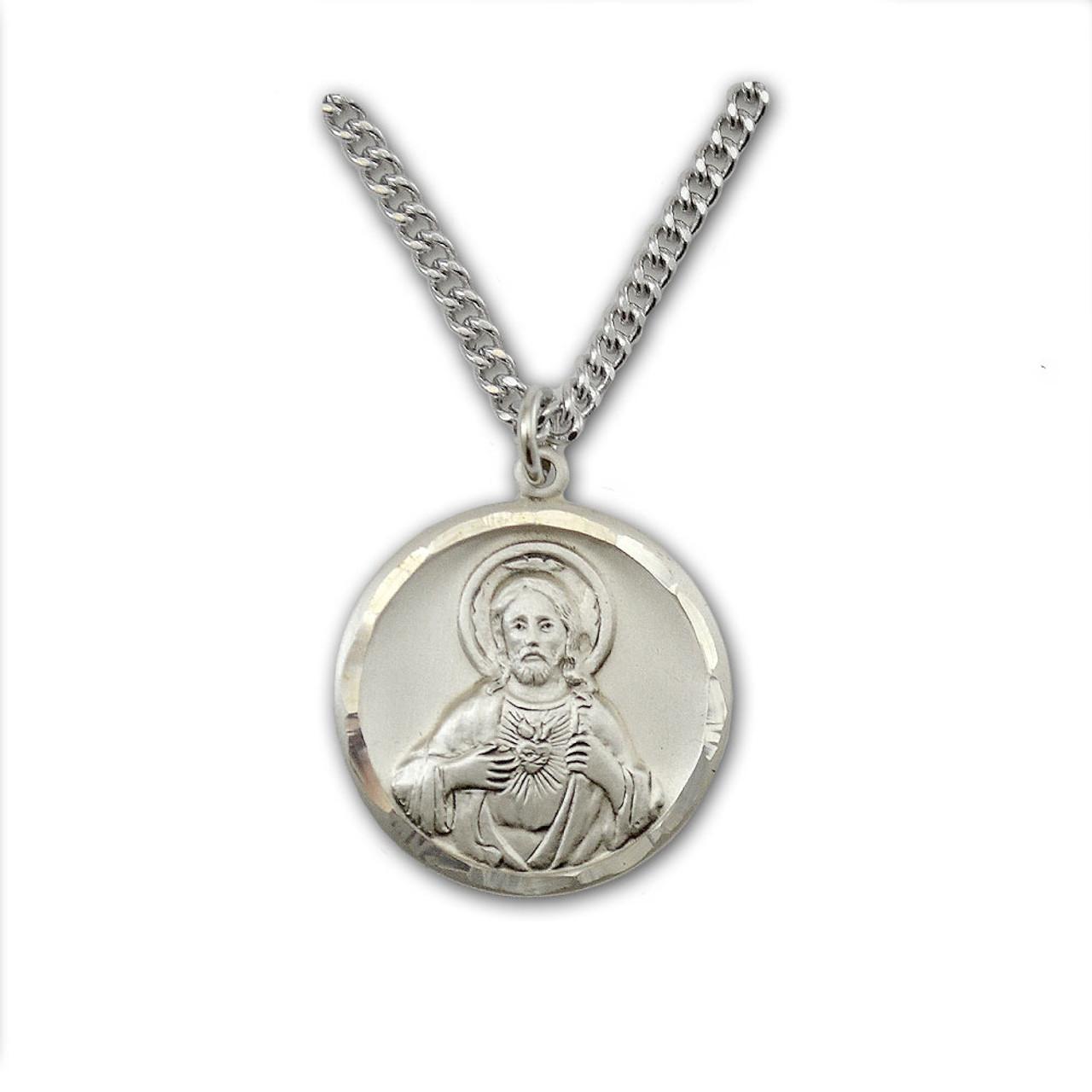 Sacred Heart Scapular Medal Necklace