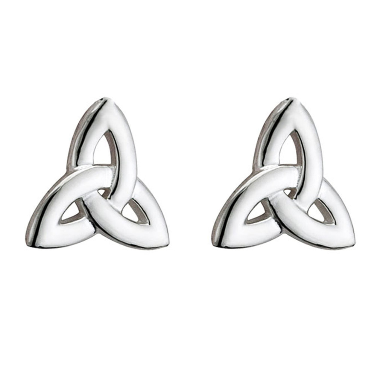 Sterling Silver Trinity Stud Earrings