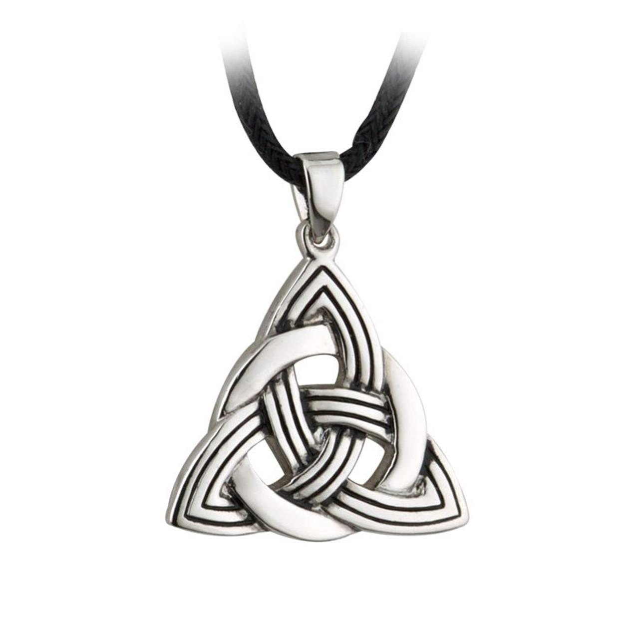 Trinity Knot Rhodium Pendant