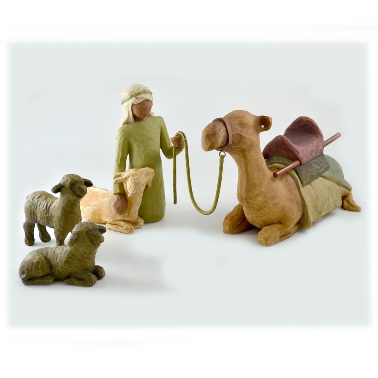 Willow Tree Nativity Shepherd and Stable Animals